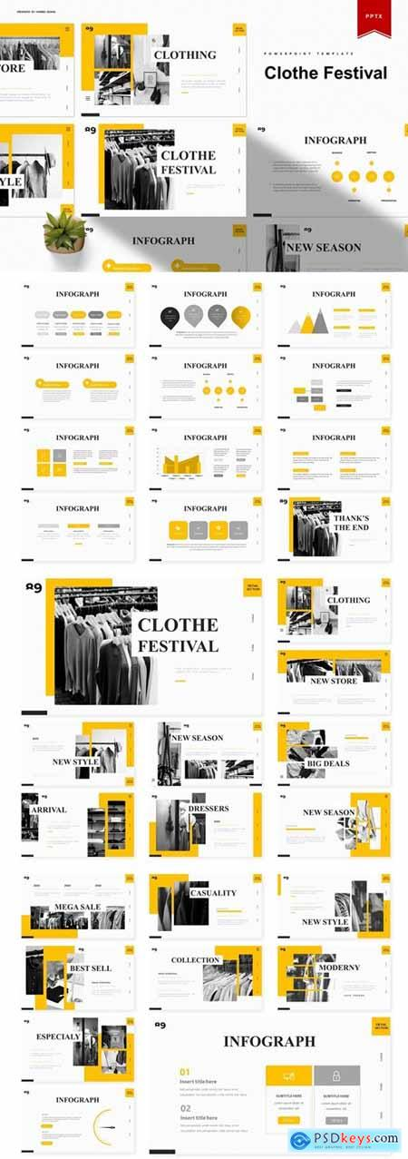 Clothe Festival Powerpoint, Keynote and Google Slides Templates