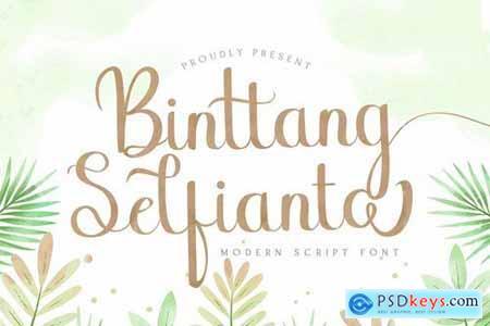 Binttang Selfianto - Script Font 5129939