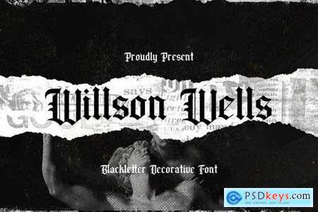 Wilson Wells - Blackletter Font 5130017