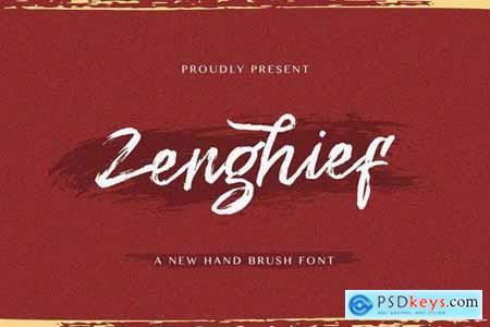 Zenghief - Hand Brush Font 5129959