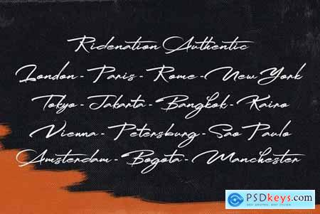 Ridenation - Handwritten Font 5123463