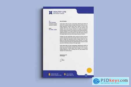 Medical healthy letterhead