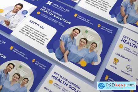 Medical healthy a5 flyer