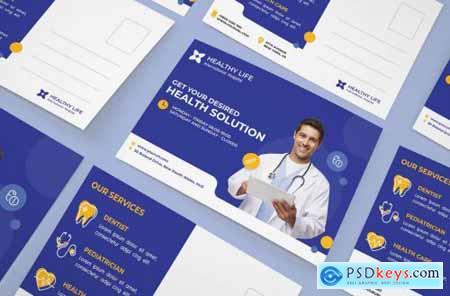Medical healthy postcard