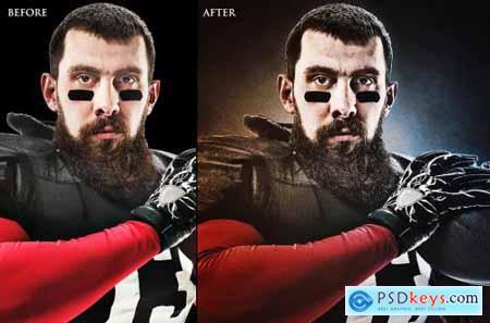 Dark Grain Photoshop Action
