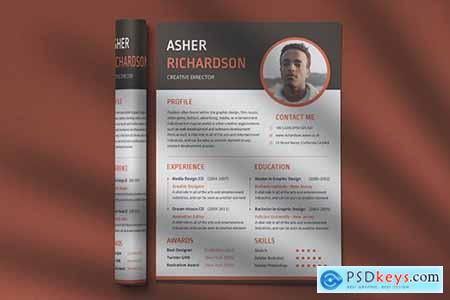 CV Resume Professional Template Vol. 19