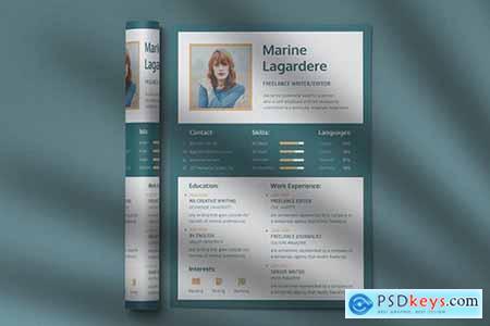 CV Resume Professional Template Vol. 18