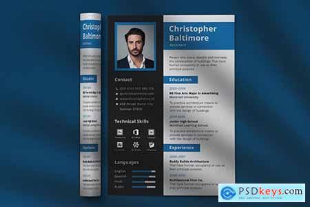 CV Resume Professional Template Vol. 21