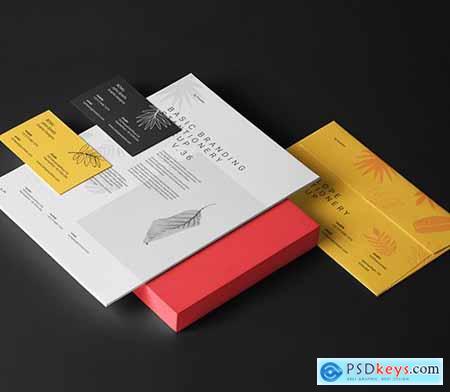 Psd Stationery Branding Mockup Vol 35