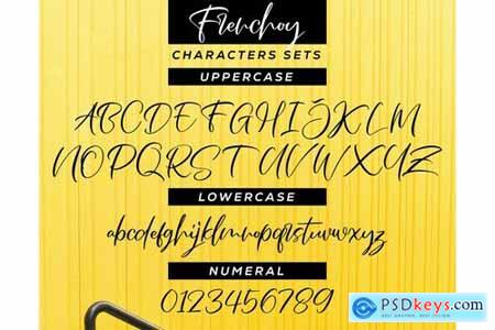 Frenchoy Handwriting Script Font