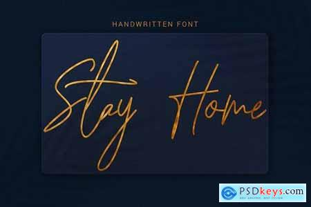 Stay Home - Modern Hand Lettering Font