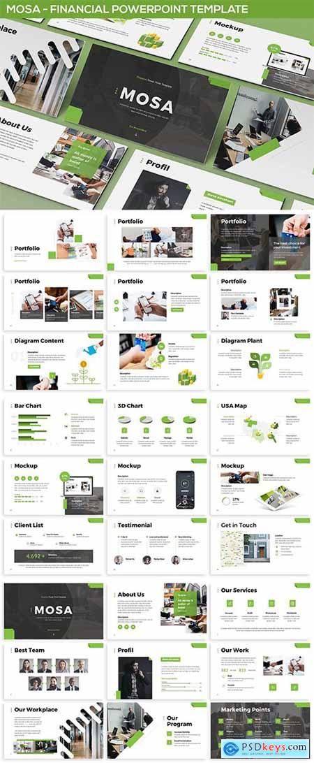 Mosa - Financial Powerpoint Template