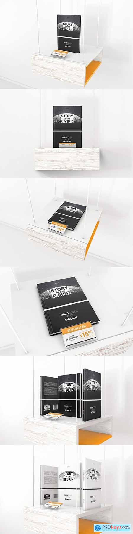 Hardcover Book With Price Tag Mockups