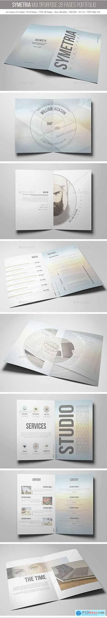 Symetria Multipurpose 28 Pages Portfolio 14846077