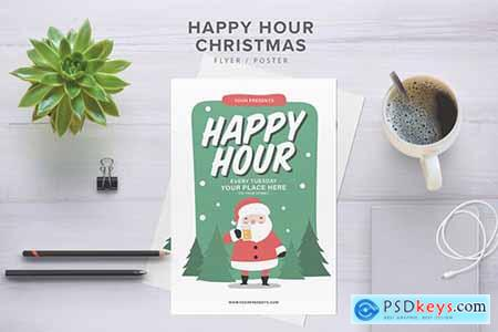 Happy Hour Christmas Flyer