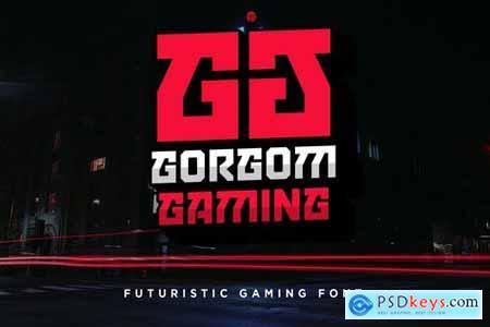 Gorgom - Futuristic Gaming Font