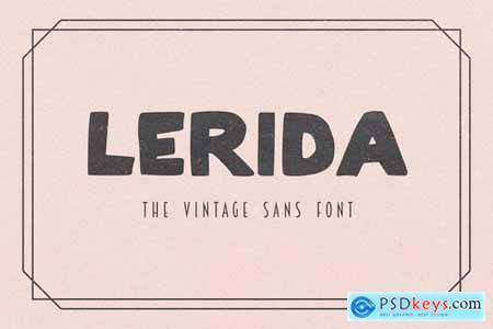 Lerida - The Vintage Sans Font