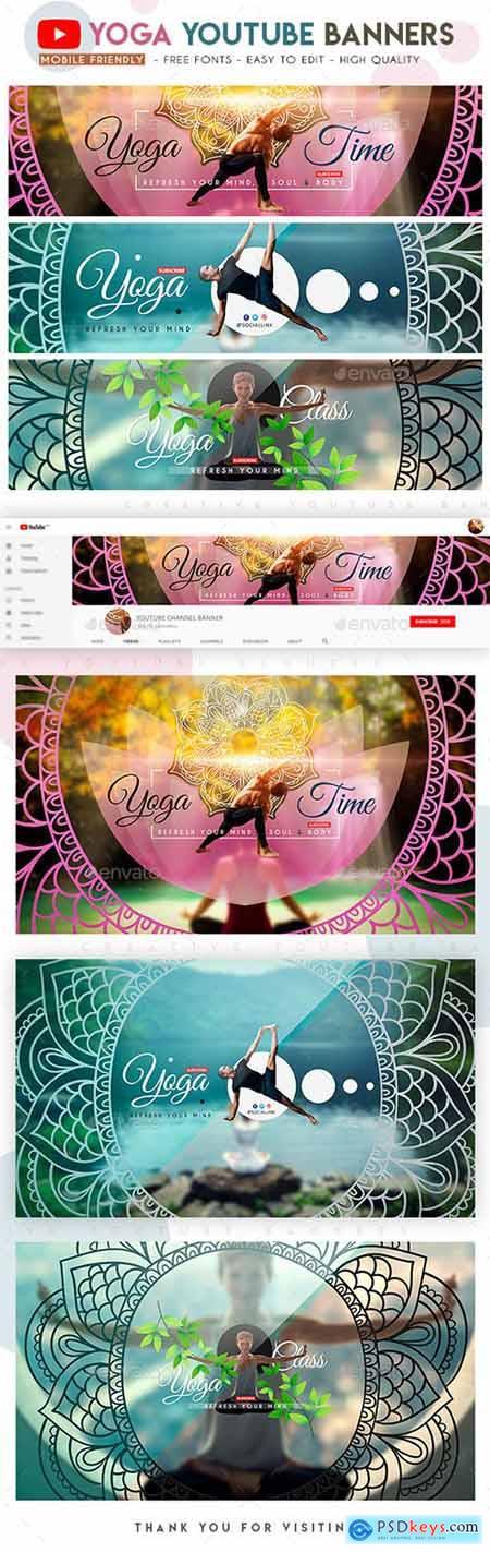 Yoga YouTube Banners 22841110