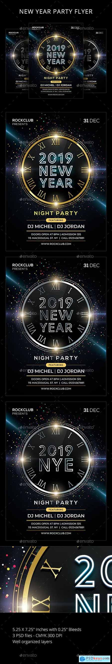 New Year Party Flyer 22855602