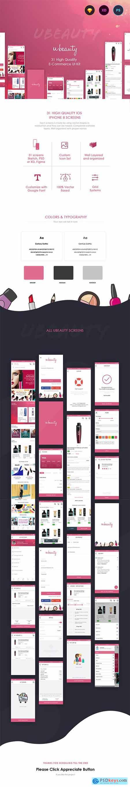 Ubeauty UI Kit