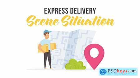 Express delivery - Scene Situation 27597171