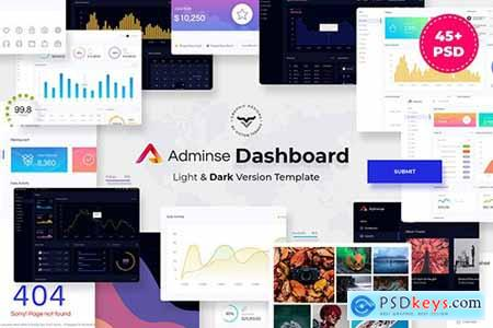 Adminse - Dashboard for Admin PSD Template