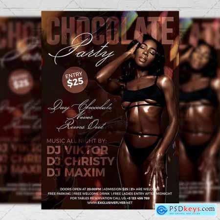 Chocolate Party Flyer - Club A5 Template