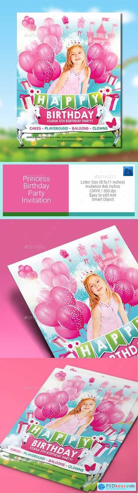 Princess Birthday Party Invitation 11752005