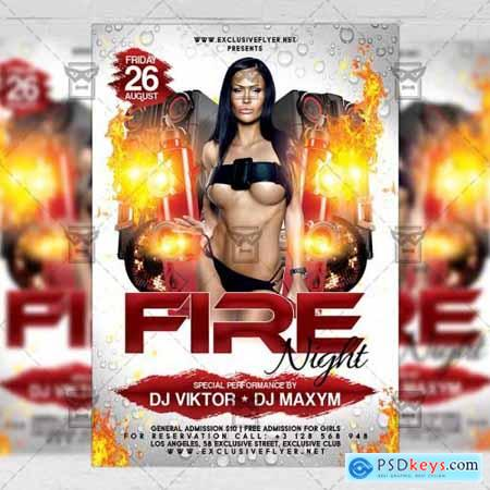 Fire Night Flyer – Club A5 Template