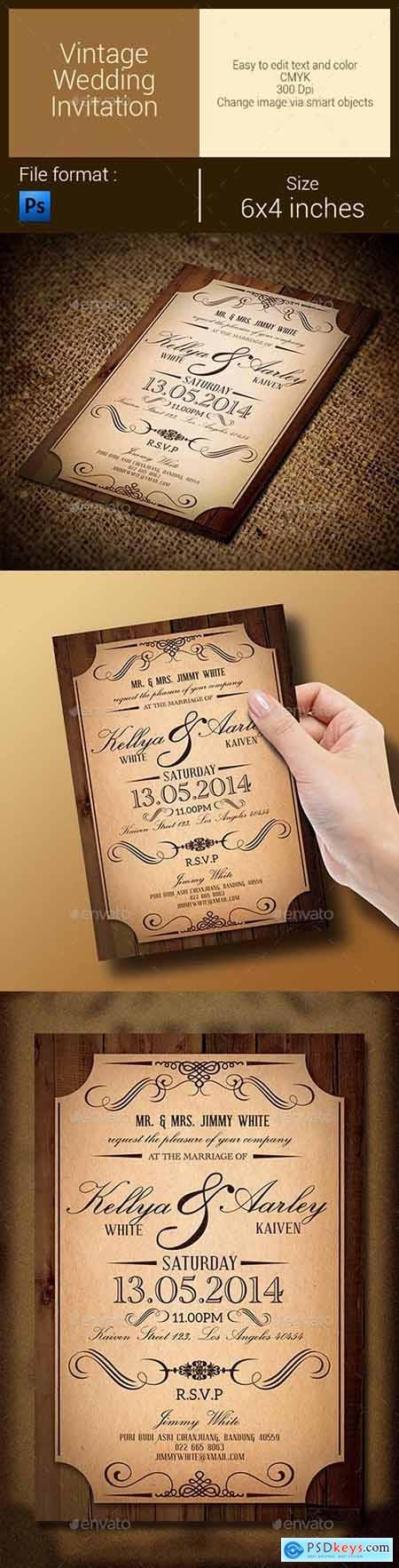 Vintage Wedding Invitation 9615090