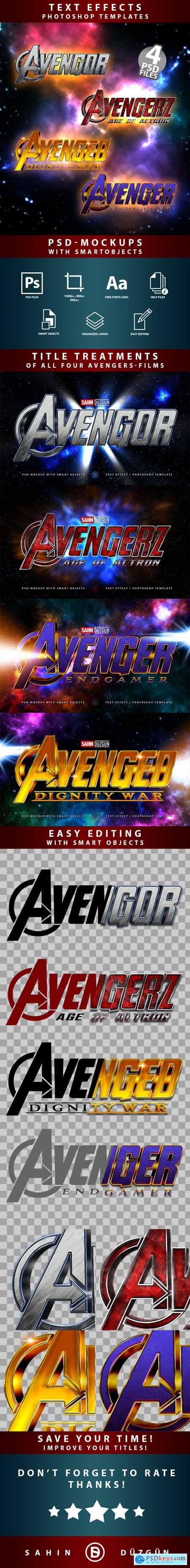 AVENGERS Text-Effects Mockups Template-Package 26410083