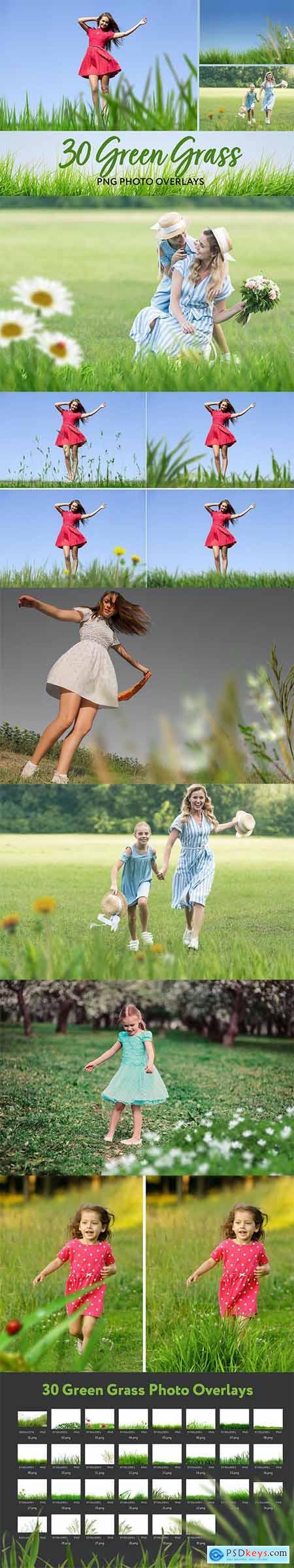 30 Green Grass Photo Overlays 26414686