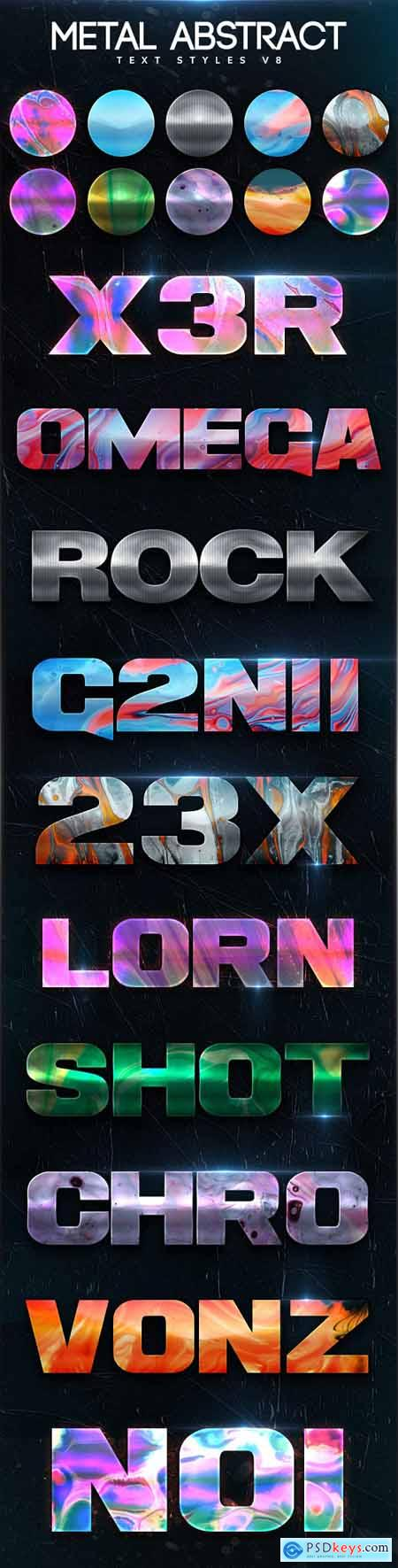 Metal Abstract Text Styles V8 26422140