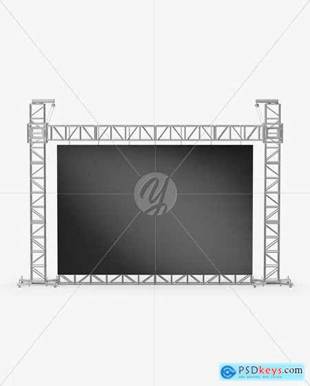 Stage Video Wall Mockup - Front View 63367
