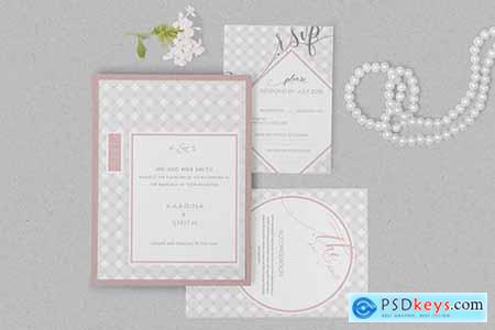 Wedding Invitation Card PSD Mockups