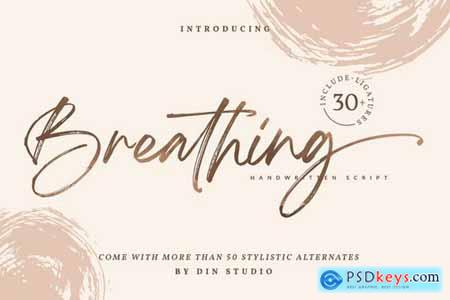Breathing Brush Signature Font