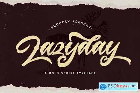 Lazyday - Bold Script Font 5159096