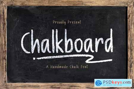 Chalk Board - A Handmade Chalk Font