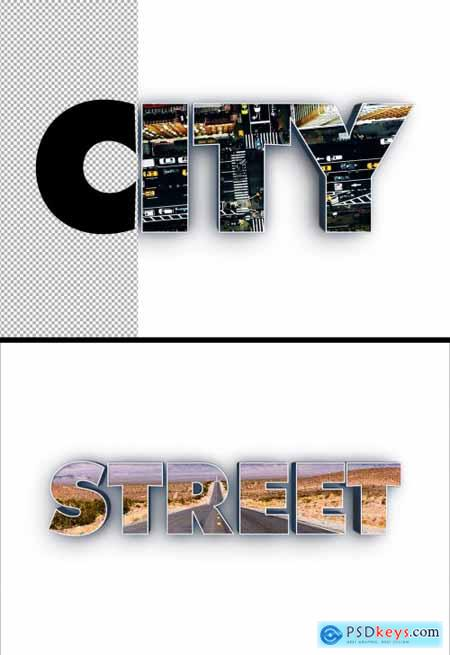 Cutout 3D Text Effect 362994232