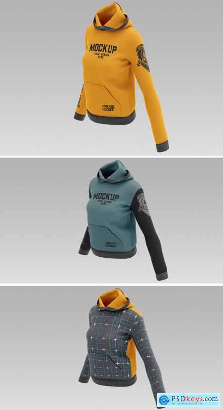 Womens Hooded Sweatshirt Mockup 362977641