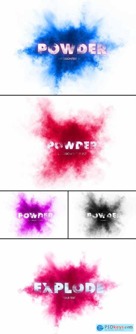 Powder Explosion Text Effect 362994323