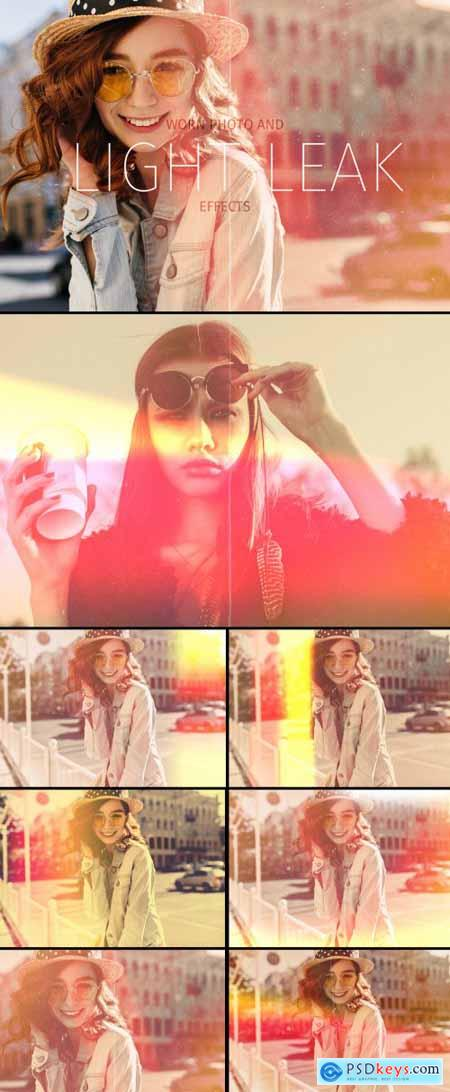 Light Leak and Worn Photo Effects 362937975