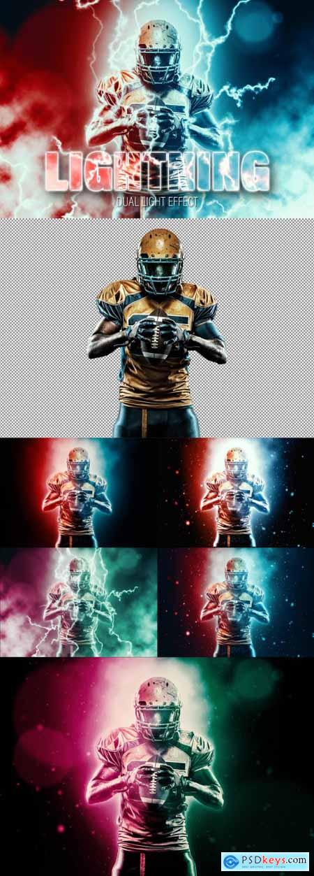 Two Color Lighting Photo Effect 362994491