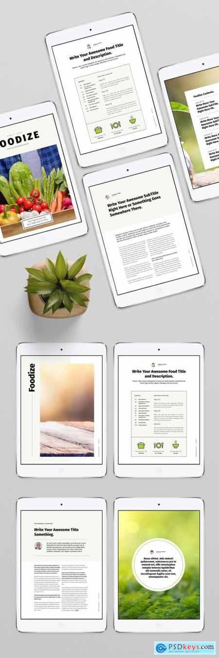 Digital Recipe Layout 362977667