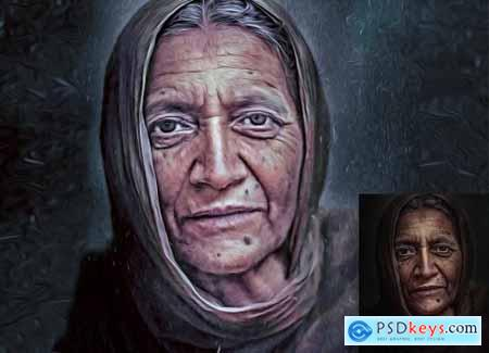 Oil Painting Photoshop Action 4825796