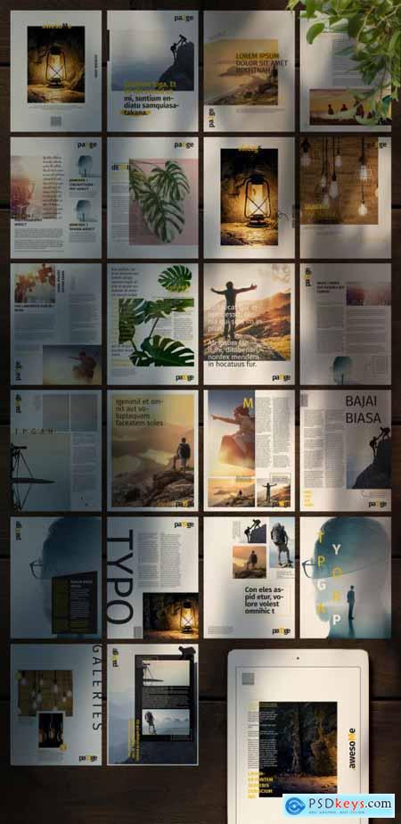 Digital Magazine Layout 363301511