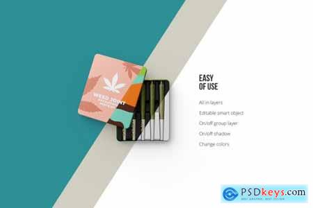 Weed Joint Packaging Mockup 4826343