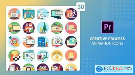 Creative Process Animation Icons Premiere Pro MOGRT 27542585