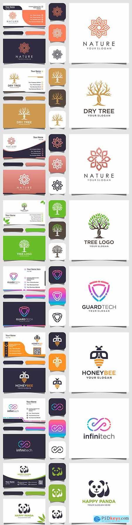 Logo and business card minimalist elegant element 5