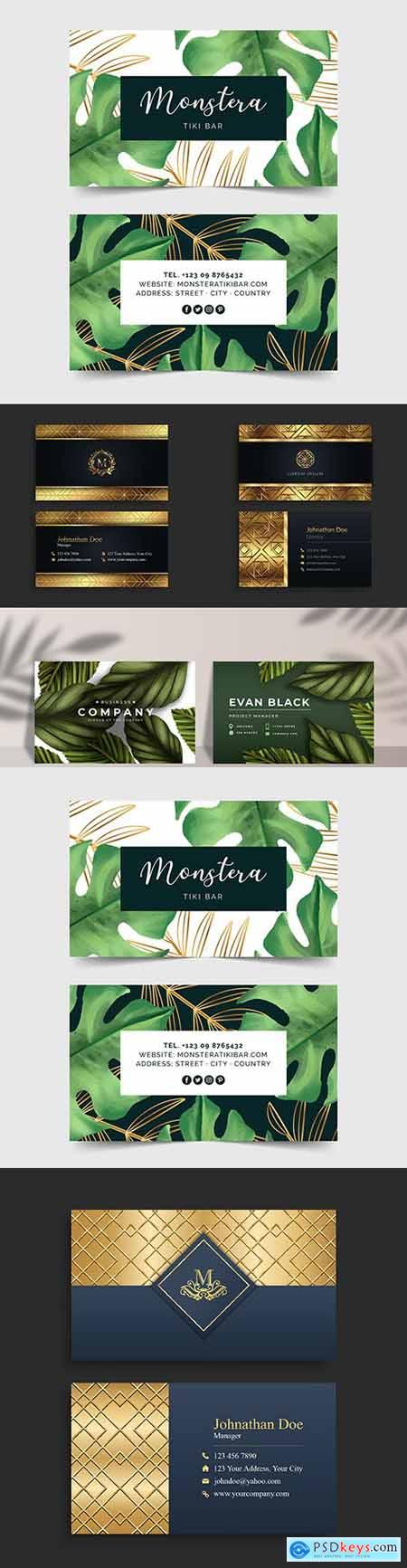 Luxury black and gold business card modern design
